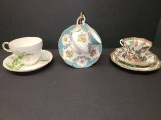 Adderley and Rosina with Coalport Bone China Teacup and Saucer Sets