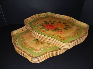 Made in Occupied Japan Serving Trays Set of 10