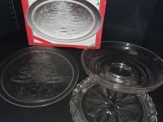 Various Glass Serving Trays