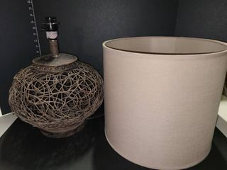 Twisted Wood Table lamp