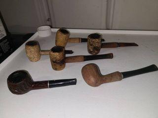 Tobacco Pipes 4 Corn Cob 2 Wood