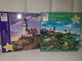 Puzzles Over 550 Piece lot of 2