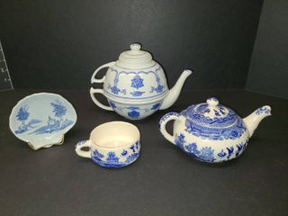 Delft Decor with Assorted Blue and White Tea Sets