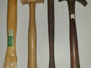 Hickory 14 in Hatchet Handle with 3 Various Hammers