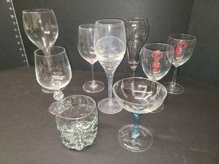 Various Bar Glasses lot of 9
