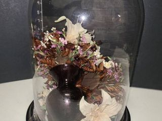 Glass Dome Floral Decor