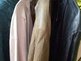 MENS lEATHER COATS Size 42  large Sized Sweater  and a Golf Coat