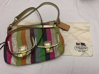 Coach purse with coach bag