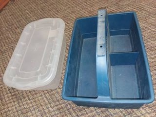 Rubbermaid Tote with Divided Carry Tray