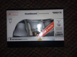 45 Watt R20 Flood Bulbs Box of 6