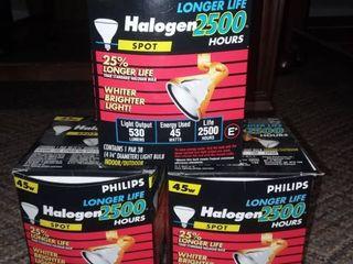 Philips 45 Watt Halogen 2500 Spot light Bulbs lot Of 3