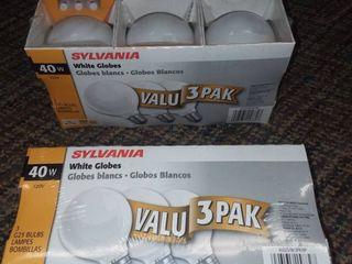 White Globe light Bulbs 2 Packages of 3