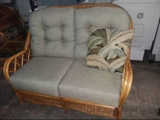 Wicker loveseat with Pillow