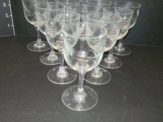 Etched Glasses lot of 10
