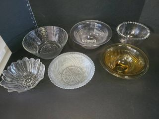 Glass Bowls lot of 6