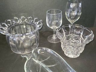 Various Glass Pieces lot of 5