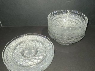 Glass Plates and Bowls lot of 8