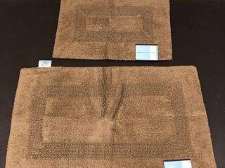 Windsor Home 100 percent Cotton 2 piece Reversible Rug Set