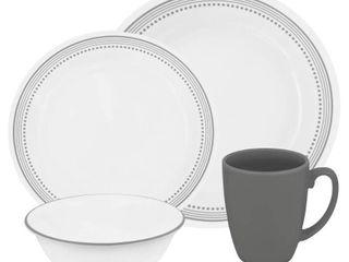 Corelle livingware 16pc Dinnerware Set Mystic Gray