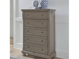 lettner Five Drawer Chest light Gray   Signature Design by Ashley