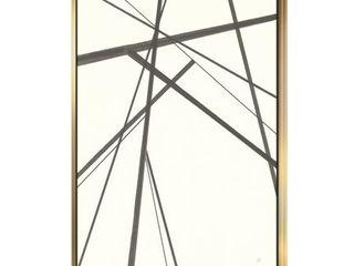 Designart  minimalist black and white III  Transitional Framed Canvas  Retail 194 99