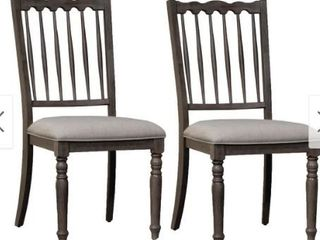 Brandywine Spindle Back Upholstered Side Chairs  Set of 2  Retail 249 99