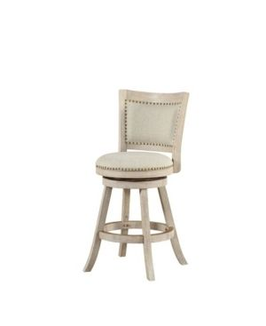 Boraam Melrose 24 in  Upholstered Swivel Counter Stool with Nailhead Trim