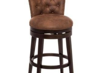 Hillsdale Furniture Studded Brown Weathered Swivel Barstool
