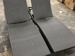 Vilano Outdoor lounge  Small Stain see photos Chairs  set of 2  by Haven Home Grey