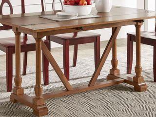 Oak Finish Convertible Table
