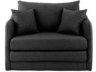 Modern Casual Convertible Sleeper Chair Dark Grey