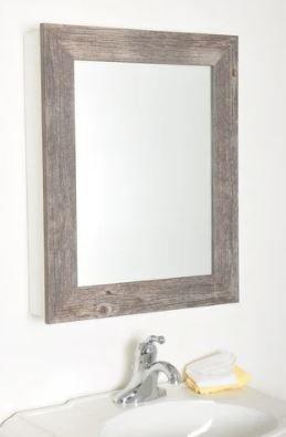 Farmhouse Grain Mirrored Cabinet