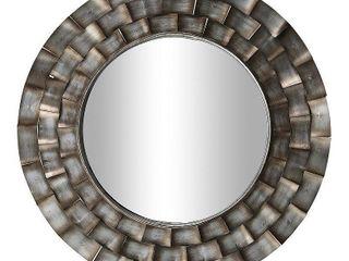 FirsTime   Co  Julissa Modern Metal Mirror  American Crafted  Aged Metallic  Mirror  31 5 x 0 95 x 31 5 in  Retail 117 99