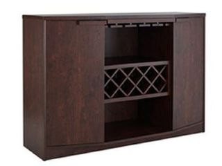 Wine Bar Furniture Dining Room Server Buffet Table With Rack Dry And Cabinet