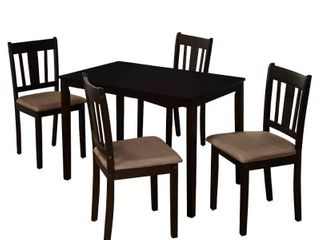 5pc Stratton Dining Set Espresso Brown   Buylateral