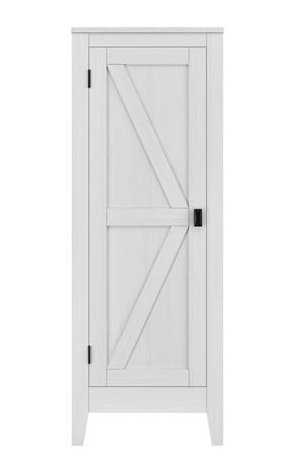 Ameriwood Home Farmington Entryway Storage Cabinet Ivory Pine