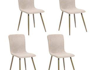Carson Carrington Viken Modern Upholstered Dining Chairs  Set of 4  Retail 280 52