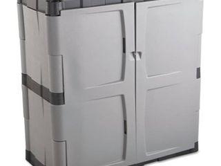 Rubbermaid Double Door Storage Cabinet   Base  18w x 18d x 36h  Gray Black