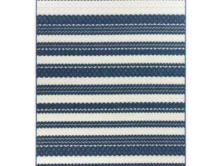 BAlTA Caldwell Navy 8 ft  x 10 ft  Nautical Stripe Indoor Outdoor Area Rug  Blue