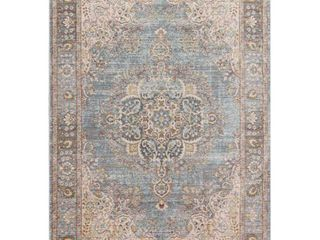 JONATHAN Y Goa Floral Medallion Traditional light Blue Ivory 7 ft  9 in  x 10 ft  Area Rug