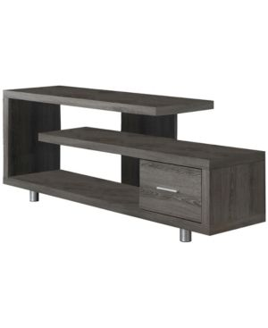 Monarch Specialties Dark Taupe with 1 Drawer TV Stand  60