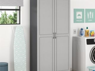 Ameriwood Home Kendall 36  Utility Storage Cabinet  5 Shelves  Gray