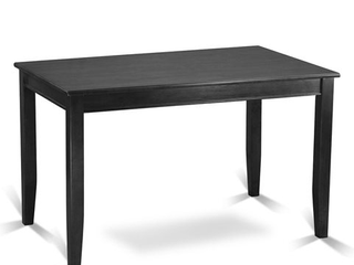 Buckland Counter Height Rectangular Table 30 x48  in Black Finish