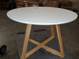 Coffee Table  for living Room  Home and Office  Can be Used as Side Table  White Surface and Wooden Frame  31 5 inch Wide  20 inch High