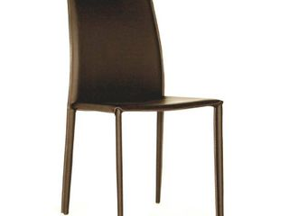 Baxton Studio leather Dining Chair  Espresso Brown