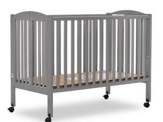 Dream On Me  Folding Full Size Crib  Steel Grey