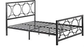 Hodedah Complete Metal Bed in Twin Size