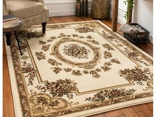 Well Woven Timeless le Petit Palais Traditional Medallion Floral Ivory 3 11  x 5 3  Area Rug