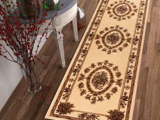 Well Woven Timeless le Petit Palais Traditional Medallion Floral Ivory 2 7  x 12  Runner Area Rug