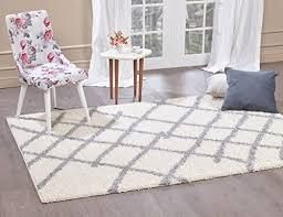 A2Z Rug Moroccan 5530 Shag Collection Ivory  Dark Gray 2 7  x 5  FT Area Rugs living Room Dinning Room Play Room